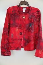 NWT Chico's Redbay African Scroll Padma Jacket Size 1 (S/M) MSRP $108