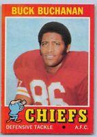 1971  BUCK BUCHANAN - Topps Football Card- # 13 - KANSAS CITY CHIEFS