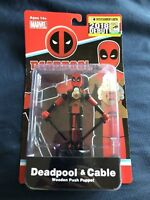 Deadpool & Cable Wooden Puppet. Only 1500 Made