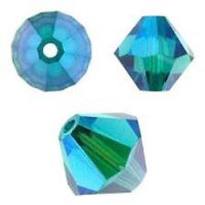 Swarovski Crystal Bicone. Blue Zircon 2X Color. 4mm. Approx. 144 PCS. 5328