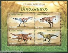 SAO TOME  2013  FAUNA OF AFRICA DINOSAURS SHEET MINT NH