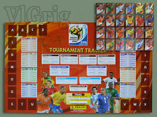 2010 World Cup Panini Tournament Tracker - poster + ALL 24 sticker
