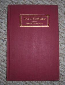 1949 SIGNED BERTHA LEE BROYLES Poet LATE SUMMER & Other Verse Private Printed