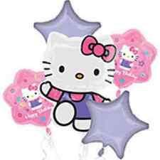 Hello Kitty Birthday Party Foil Balloon Bouquet  - New!