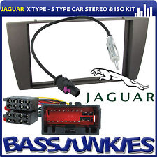 Jaguar X Type 2002 Car Stereo Double Din Fascia Panel ISO & Aerial Kit