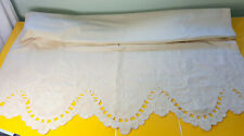 More details for antique large linen hand embroidered cover.