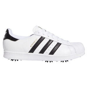 NEW Mens Adidas Superstar FY9926 Golf Shoes White / Black / Gold -Choose Your Sz