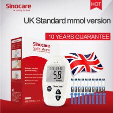 Sinocare MMOL Blood Glucometer Kit Diabetic Sugar Monitor Indivial Strips Lancet