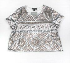 fc32cf9fb3c Forever 21 Plus 1X Short Sleeve Sequin Crop Top Party New Years