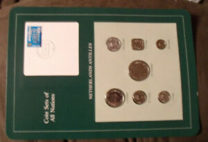 Coin Sets of All Nations Netherlands Antilles w/card 1982-1984 UNC 2.5 Gulden 82