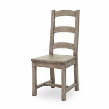 """42.5"""" Set Of Two Modern Coast Dining Chair Reclaimed Pine Sundried Ash"""