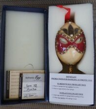 "Authentic Egg Collection Masked Goose Egg ""Mistique"" Limited Edition  #257/3500"