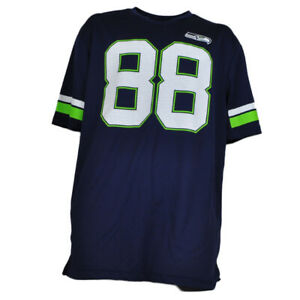 NFL Seattle Seahawks Jimmy Graham #88 Game Jersey Tshirt Mens Short Sleeve Navy