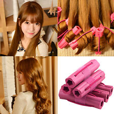 6pc Rubber Elastic Roller Curler Hair Soft pelo DIY Styling Hairdress Won't Hurt