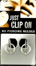 2 xTest Fake Illusion Piercing Ring clip on 8 mm silber Lippen Ohr Intim  90005