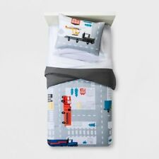 Pillowfort Road Map Vehicles Trucks Theme Comforter + Sham Set ~ Nwt Twin