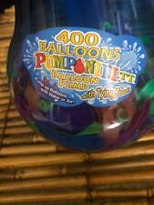Pumponator Water Balloon Pump Fill Balloons Water Air includes 400 Balloons New