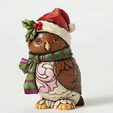 "Jim Shore Pint Sized Christmas Owl Figurine ~ ""Owl Be Home"" ~ 4053821"