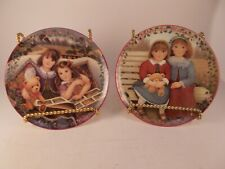 Lot of 2 Kindred Moments Collector's Plates by Chantal Poulin Kindred Moments