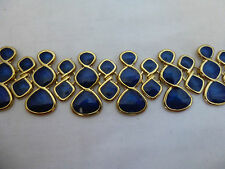 Gilt Metal,Sapphire Blue Enamel Collar