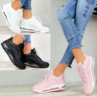 Neu Plateau Sneaker Damen Schuhe Stiefeletten Transparent Sohle Pink