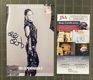 Ronda Rousey Signed 3x5 EXPENDABLES 3 Publicity Photo JSA COA AUTO