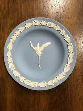 "Blue Wedgwood Round Plate Dish 54.5"" Bird Scroll Edge"