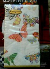 New MacKenzie Childs Butterfly Garden Guest Paper Towels Napkins /15 per pack/