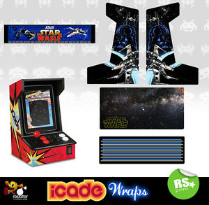 Icade Star Wars V2 Full Set Arcade Artwork Graphics Sticker Sides Marquee Panels