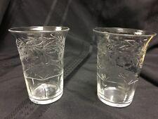 (2)TUDOR ENGLAND CUT CRYSTAL JUICE GLASSES