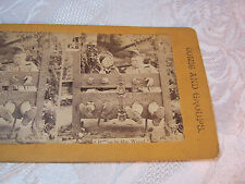 MAN AND WOMAN LOCKED UP  STEREOVIEW CARD     T*