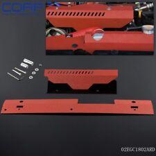 Gplus Radiator Shroud & Pulley  Belt Cover Combo For Subaru WRX & STi 02-07 RED