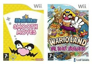 Wii - WarioWare Smooth Moves OR Wario Land Shake Dimension *Multi Listing*