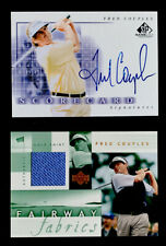FRED COUPLES 2002 Lot UD Short Print Game Used On Card Signed + Fairway Fabrics