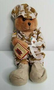 Chantilly Lane Brite Spots GI Hero Military Soldier Bear God Bless USA Lights up