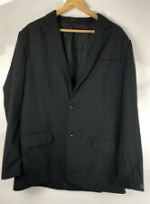 "French Connection 42"" Chest Black Blue Pin Stripe Mens Smart Suit Jacket Blazer"
