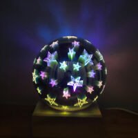 3D Starry Sky Star Night Light Ball Lamp LED Love Heart Butterfly Projector Bulb