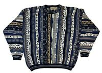 90s Cotton Traders Men's XL Coogi-Style Cosby Biggie Pullover Sweater Hip Hop