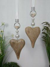 🌹 Fensterdeko Herz Mangoholz, Fensterhänger, Dekohänger, Wohndeko,