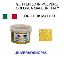 GLITTER 3D PER PITTURA IDROPITTURA BRILLANTINI PER VERNICI ORO PRISMATICO 50 GR