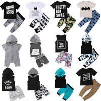 Infant Newborn Kids Baby Girl Boy T-shirt Tops+Pants Trousers 2PC Outfit Clothes