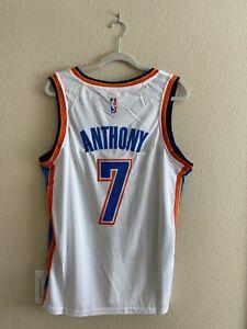 NWT Carmelo Anthony #7 Oklahoma City Thunder White Jersey Men's Stitched M