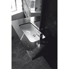 Lavandino Lavabo Sottopiano Bagno modello Small in ceramica bianco 71x37 cm