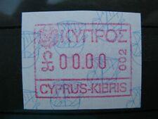 More details for cyprus rare frama label error 00.00 value with limassol code 002