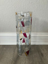PartyLite Mosaic Calypso Cylinder Hurricane Shade Stained Glass