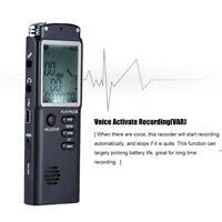 1536 Kbp VAR MICRO REGISTRATORE AUDIO VOCALE 8GB SPIA VOICE RECORDER USB T60