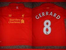 Liverpool Steven Gerrard chicos jóvenes XL 158 Fútbol Balonpié Camiseta Camisa Guerrero