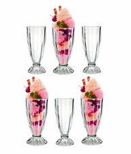 Milkshake Glasses Dessert Sundae Ice Cream Soda Glass Tall American Style 340ml