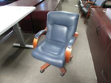 Blue Leather Laz Boy Conference Executive Chairs