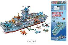 Aircraft Carrier Model Kit 3D Puzzle Aero Plane Boys Aeroplane Ship Toy Set Box